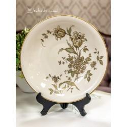 KRAUTHEIM gili, kreminio porceliano lėkštė