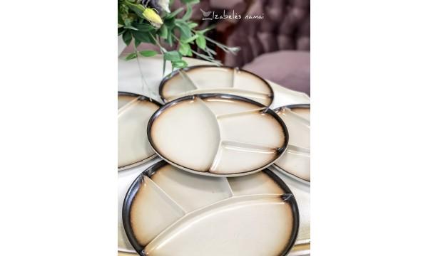 ITALIŠKOS keramikos lėkštės, 5 vnt.