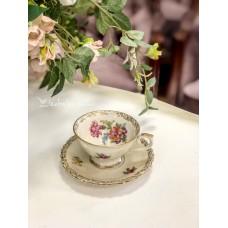 SCHUMANN kreminio porceliano puodelis espresso kavai
