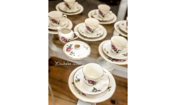 HEINRICH kreminio porceliano kavos servizas
