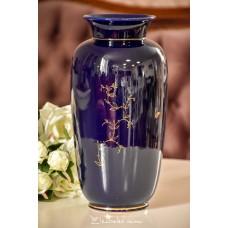 JASBA vokiško porceliano, didelė, kobaltu dekoruota vaza