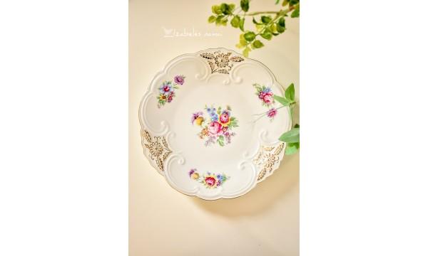 BAREUTHER balto porceliano lėkštė