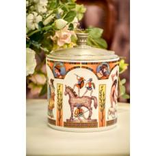 SELTMANN WEIDEN limituotos gamybos, balto porceliano indas su alavo dangčiu