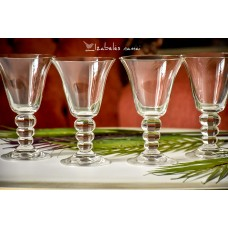 SKAIDRAUS stiklo desertinės taurės, 4 vnt.