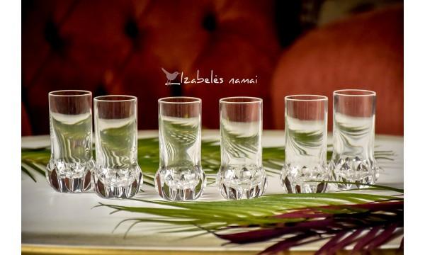 KRIŠTOLO stikliukai, 6 vnt.