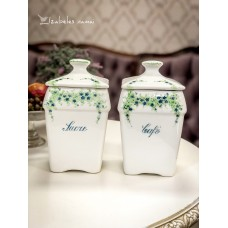 PRANCŪZIŠKOS keramikos indai kavai ir cukrui