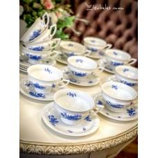 ROSENTHAL MARIA balto porceliano puodeliai, 6 vnt.