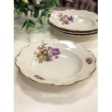 EDELSTEIN MARIA THERESIA kreminio, bavariško porceliano gilios lėkštės, 4 vnt.