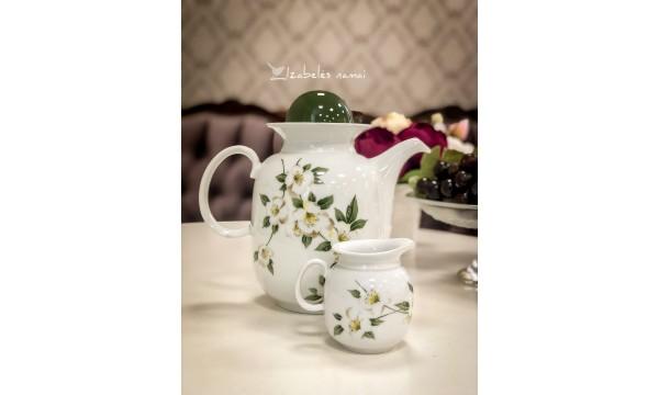 SCHIRNDING BAVARIA balto porceliano komplektas kavai/arbatai