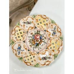 RANKŲ darbo, italų keramikos lėkštė