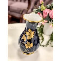WALDERSHOF bavariško porceliano vaza, dekoruota kobaltu ir auksu