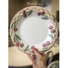PORTUGALIŠKA rankų darbo, keramikos lėkštė
