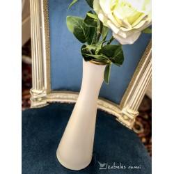 ALKA KUNST kreminio porceliano, auksu dekoruota, vaza