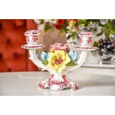 BASSANO itališkos majolikos žvakidė