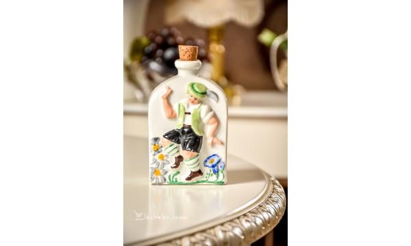 STILIZUOTAS vokiško porceliano buteliukas su kamščiu
