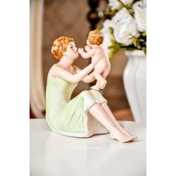 """BISKVITINIO porceliano statulėlė """"Motinos meilė"""""""