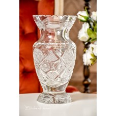 RANKŲ darbo, krištolo vaza