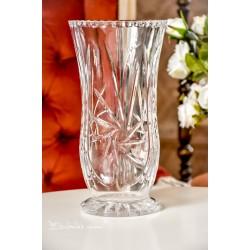 DIDELĖ ir plati, vintažinio stiklo vaza