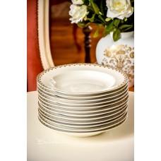 LIMOGES prancūziškos, gilios lėkštės, 12 vnt.
