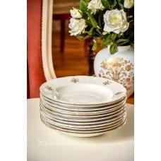 BALTO porceliano, gilios lėkštės, 12 vnt.