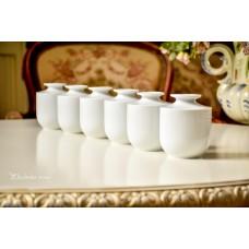 SCHUMANN balto porceliano vazelių komplektas
