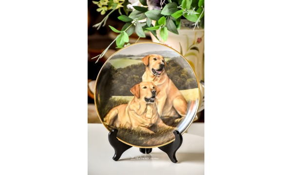 """KOLEKCINĖ, limituoto leidimo porceliano lėkštė """"Golden Companions"""""""