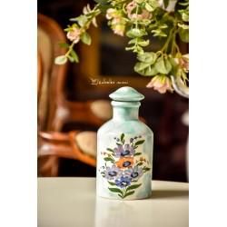ITALIŠKOS keramikos, rankomis tapytas buteliukas su kamščiu