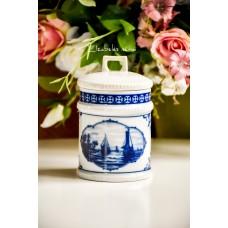 GDR FINE CHINA LICHTE porceliano indas, dekoruotas kobaltu