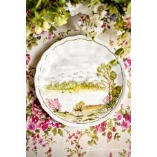 RANKOMIS tapyta, porceliano lėkštė