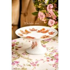 SCHUMANN balto porceliano, rankomis tapytas porcelianos stovelis
