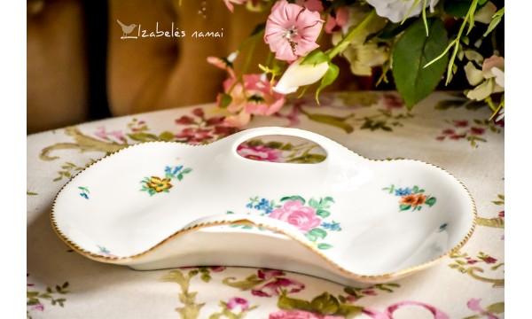 TIRSCHENREUTH balto bavariško porceliano padėkliukas