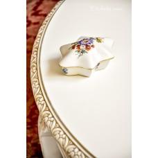 JLMENAU švelniai kreminio porceliano dėžutė
