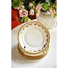 MITTERTEICH švelniai kreminio porceliano lėkštelės, 6 vnt.