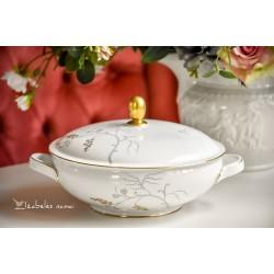 ESCHENBACH balto porceliano serviravimo indas