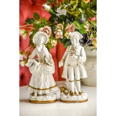BISKVITINIO porceliano statulėlių pora