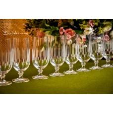 KRISTALINO taurės šampanui / gaiviesiems gėrimams, 10 vnt.