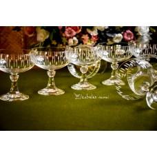 KRISTALINO taurės šampanui / desertams, 11 vnt.