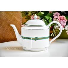 CHRISTOFLE balto, prancūziško porceliano arbatinis