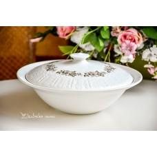 ISPANIŠKO porceliano serviravimo indas su dangčiu