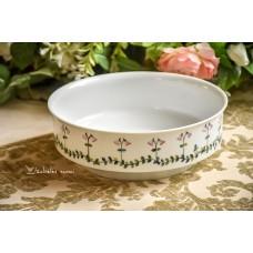 HEINRICH PORZELLANKULTUR balto porceliano, rankomis tapytas dubuo