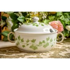 SELTMANN WEIDEN balto porceliano, rankomis tapyta sriubinė
