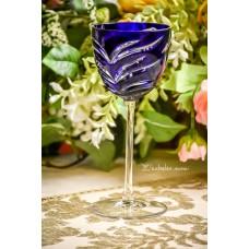 RANKŲ darbo, spalvoto vengriško krištolo AJKA asmeninė taurė