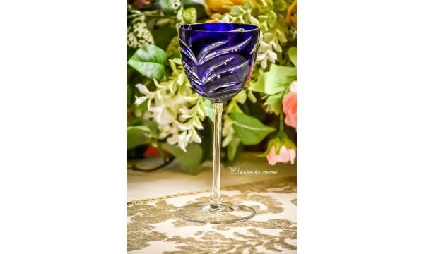 AJKA rankų darbo, spalvoto vengriško krištolo asmeninė taurė
