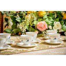 ROSENTHAL MARIA balto porceliano puodelių komplektas, 7 vnt.