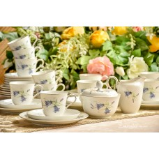 ROSENTHAL HELENA balto porceliano puodelių servizas 11 asmenų