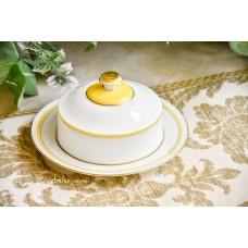 KGL. priv. TETTAU balto porceliano vintažinė sviestinė