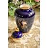 STAFFEL STONEWARE keramikos vaza su dangčiu, dekoruota kobaltu