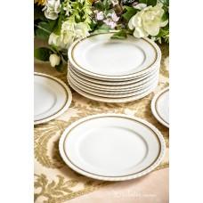 THUN balto porceliano šaltų užkandžių lėkštės, 12 vnt.