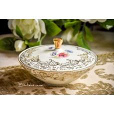 RHEINPFALZ balto porceliano indas su dangčiu / saldaininė