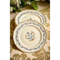 KONIGL. PR. TETTAU kreminio porceliano desertinės lėkštelės, 6 vnt.